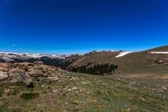 Strada della cresta della traccia in Rocky Mountain National Park Immagine Stock Libera da Diritti
