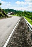 Strada della diga Immagine Stock