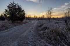 Strada della ghiaia ad in nessun posto fotografie stock libere da diritti