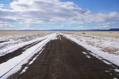Strada della ghiaia del Wyoming Immagine Stock