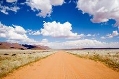 Strada della ghiaia in Namib Naukluft Immagine Stock Libera da Diritti