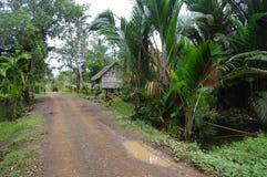 Strada della ghiaia in villaggio Papuasia Nuova Guinea Fotografia Stock Libera da Diritti