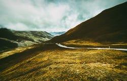 Strada della gola di Kawarau della gamma della corona, Nuova Zelanda Fotografie Stock Libere da Diritti