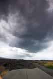 strada della lava Fotografia Stock