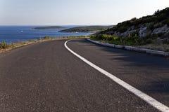Strada della linea costiera nell'Adriatico Immagine Stock Libera da Diritti