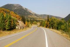 strada della montagna fotografie stock