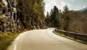 Strada della montagna all'alta velocità Immagine Stock