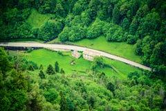 Strada della montagna da sopra Fotografie Stock Libere da Diritti