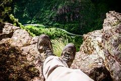 Strada della montagna da sopra Immagini Stock Libere da Diritti
