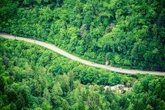 Strada della montagna da sopra Immagine Stock Libera da Diritti