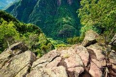 Strada della montagna da sopra Fotografia Stock Libera da Diritti