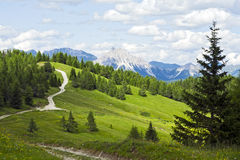 Strada della montagna del paese Immagine Stock Libera da Diritti