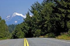 strada della montagna del paese della priorità bassa Fotografia Stock