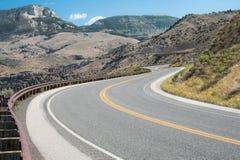 Strada della montagna del Wyoming Immagine Stock