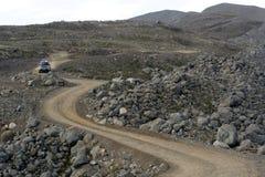 Strada della montagna dell'Islanda Immagine Stock Libera da Diritti