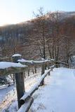 Strada della montagna dello Snowy; fotografie stock