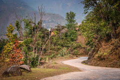Strada della montagna di bobina Fotografia Stock