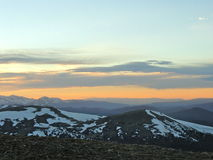 Strada della montagna di Colorado Fotografia Stock Libera da Diritti