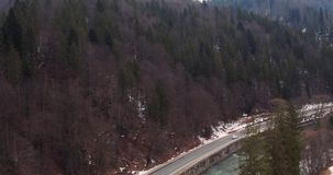 Strada della montagna di inverno fotografia stock