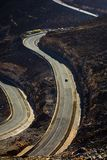 Strada della montagna di Jabal Jais al tramonto Il più alta montagna in Immagini Stock Libere da Diritti