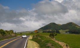 Strada della montagna di Kohala Fotografie Stock Libere da Diritti