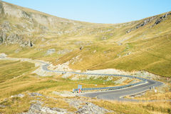 Strada della montagna di Transalpina Fotografia Stock Libera da Diritti