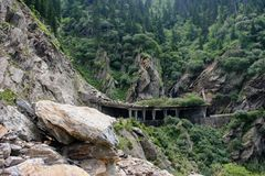Strada della montagna di Transfagaras, Romania immagine stock