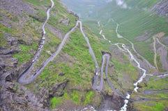 Strada della montagna di Trollstigen, Norvegia Immagine Stock Libera da Diritti