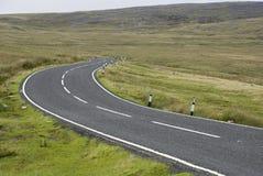 Strada della montagna, Galles Fotografie Stock