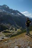 Strada della montagna, Italia, Europa Fotografia Stock