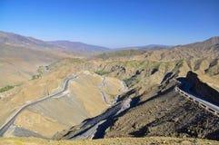 Strada della montagna nel Marocco Fotografia Stock