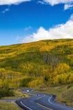 Strada della montagna nell'Utah Fotografia Stock Libera da Diritti