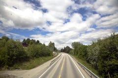 Strada della montagna in Norvegia Fotografia Stock Libera da Diritti