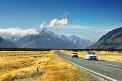 Strada della montagna, Nuova Zelanda Immagini Stock