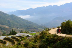 Strada della montagna PA del Sa vietnam Immagini Stock Libere da Diritti