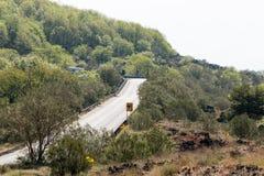 Strada della montagna sola Fotografia Stock
