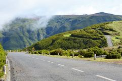 Strada della montagna sul Madera Immagine Stock