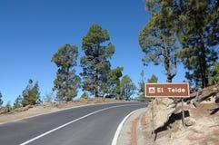 Strada della montagna, Tenerife Fotografia Stock