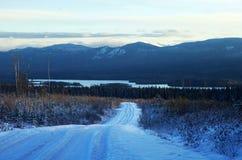 Strada della neve Fotografie Stock