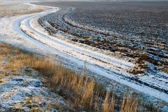 Strada della neve Fotografia Stock Libera da Diritti