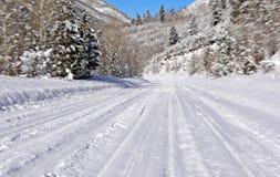 Strada della neve fotografie stock libere da diritti