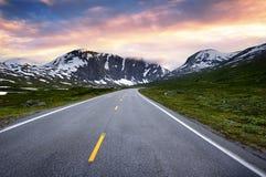 Strada della Norvegia Fotografia Stock Libera da Diritti