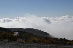 Strada della nuvola Fotografia Stock