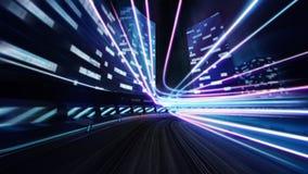 Strada della pista della città con lustro variopinto Fotografia Stock Libera da Diritti