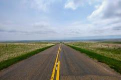 Strada della prateria in Saskatchewan, Canada Fotografie Stock Libere da Diritti