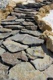 Strada della roccia Fotografie Stock