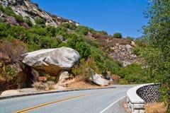Strada della roccia del traforo Fotografia Stock