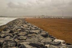 Strada della spiaggia a Accra, Ghana immagini stock