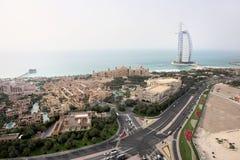 Strada della spiaggia di Jumeirah fotografie stock