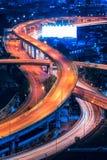 Strada della superstrada nel centro di Bangkok, Tailandia La superstrada è l'infrastruttura per trasporto in grande città Immagini Stock Libere da Diritti